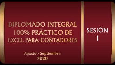 DIEPS12020 - EXCEL Y SU CONFIGURACIÓN  DE ENTORNO DE TRABAJO