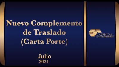 RAHS32021 - NUEVO COMPLEMENTO DE TRASLADO (CARTA PORTE)