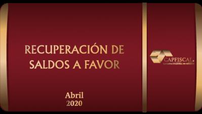 RSF2020 - RECUPERACIÓN DE SALDOS A FAVOR 2020